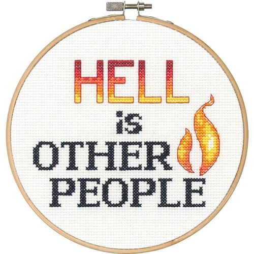 Hell Is Other People Cross Stitch Kit