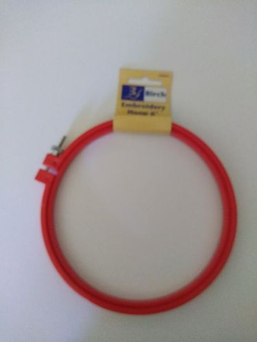 Embroidery Hoop 6 inches red