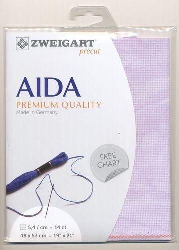 Zweigart Lavender pre-cut Aida Star