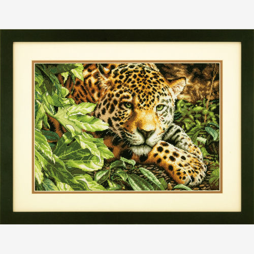 Leopard in Repose Counted Cross Stitch