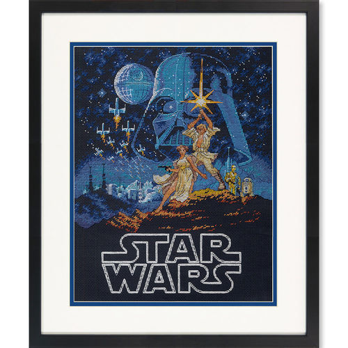 Luke and Princess Leia, Cross Stitch Kit