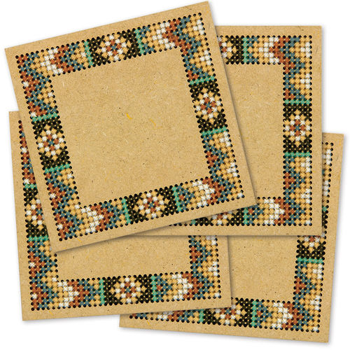 Aztec Wood Coasters, Counted Cross Stitch Kit